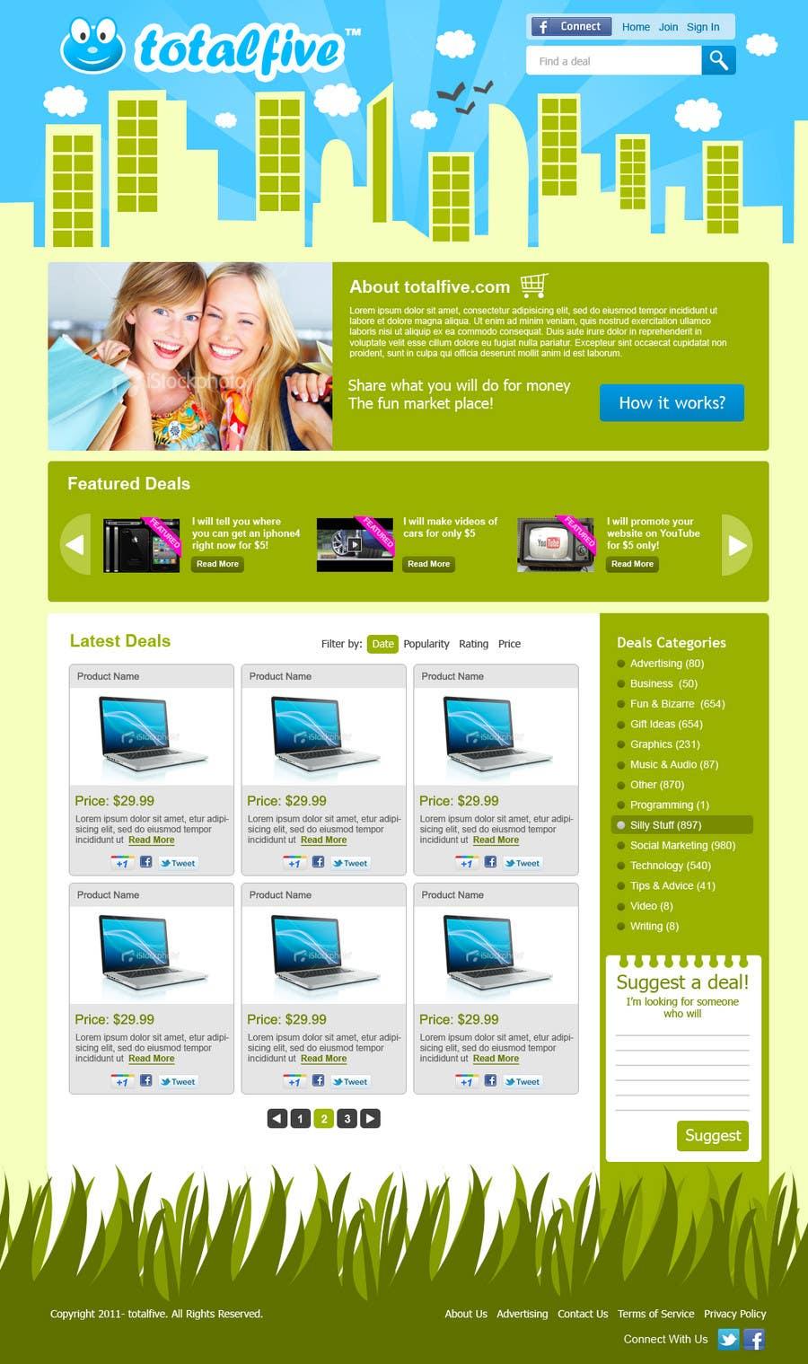 Natečajni vnos #                                        48                                      za                                         Website Design for TOTALFIVE.COM    (fiver clone)