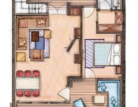 #20 for Hotel Rooms Illustration af alfannan