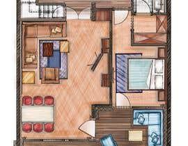 #28 for Hotel Rooms Illustration af alfannan