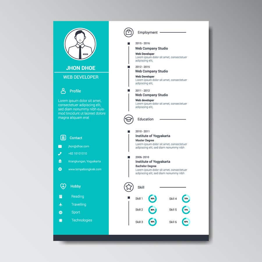 Entry #46 by Amirjaved166 for Design a creative looking resume for