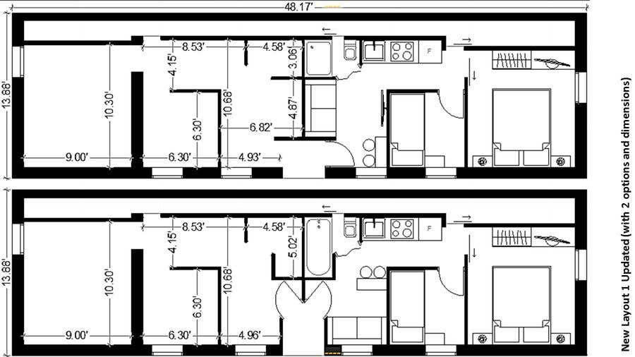 Entry 87 By Banze94 For Design Two Tiny Apartments Inside