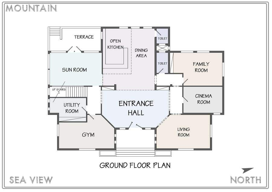 Entry #21 by IslamFikry for Do a new house design in AutoCAD