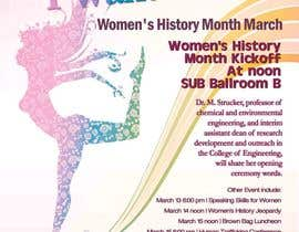 #31 para Graphic Design for TicketPrinting.com WOMEN'S HISTORY MONTH POSTER & EVENT TICKET por richhwalsh