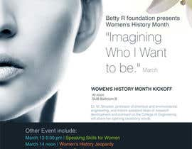 nº 6 pour Graphic Design for TicketPrinting.com WOMEN'S HISTORY MONTH POSTER & EVENT TICKET par roopfargraphics