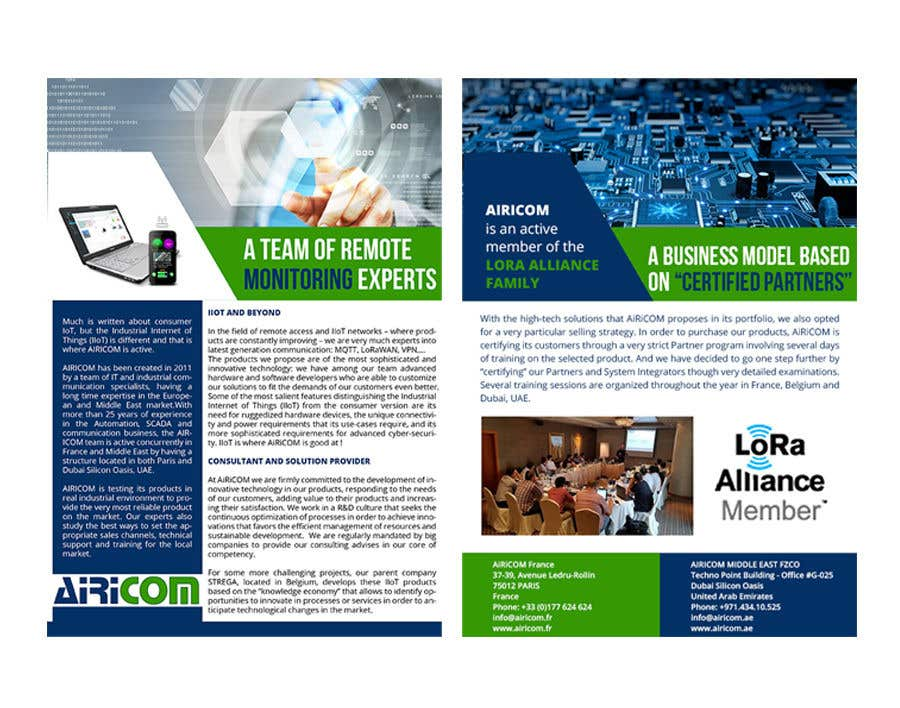 Entry #18 by maidang34 for AiRiCOM company profile 2-pages Flyer