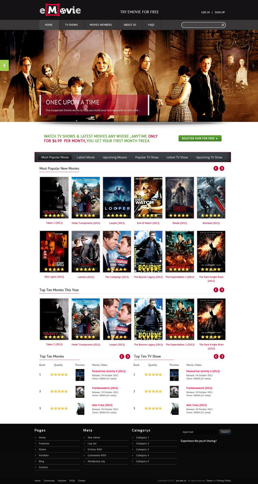 #17 for Website Design for eMovie - Online Movie Streaming by ashikimran