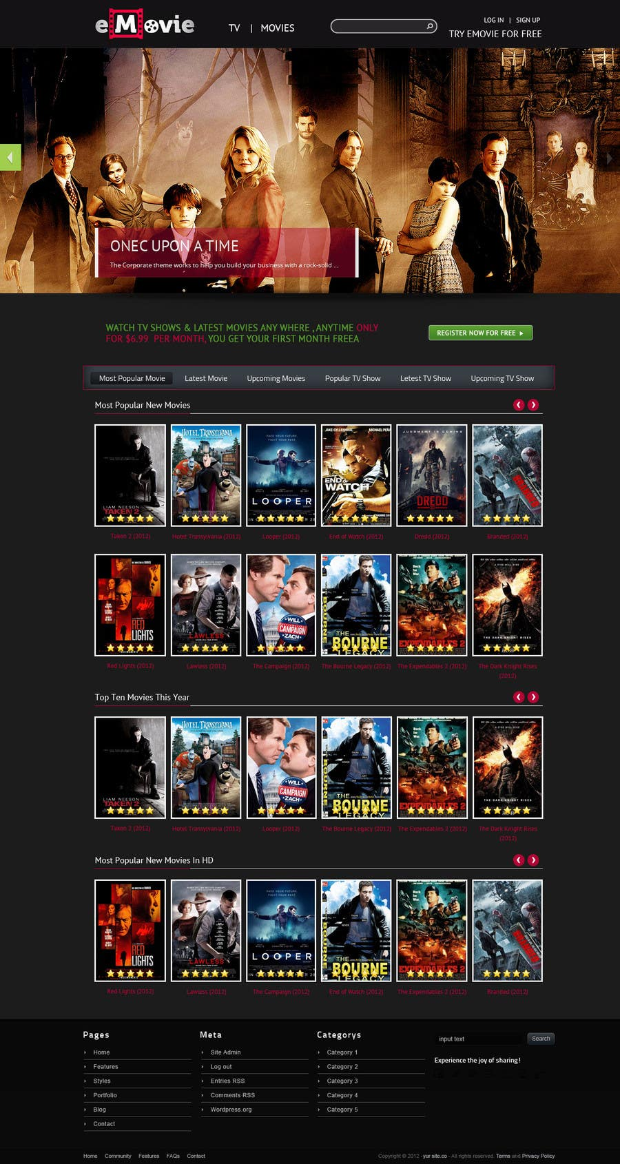 #13 for Website Design for eMovie - Online Movie Streaming by ashikimran