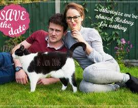 guizelle tarafından Wedding invite photo with date shaved into the cat's fur - very unique brief! için no 67