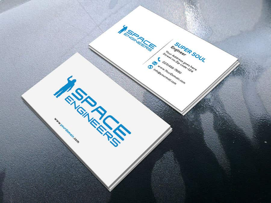 Entry 75 by supersoul32 for design business cards for space contest entry 75 for design business cards for space engineers reheart Image collections