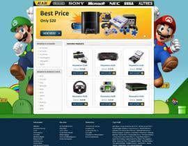 #25 para Website Design for RetroGaming Shop on Magento por dragnoir