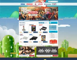 nº 19 pour Website Design for RetroGaming Shop on Magento par hipnotyka