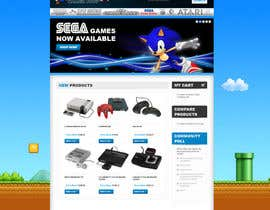 nº 13 pour Website Design for RetroGaming Shop on Magento par impact27