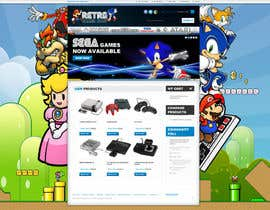 nº 20 pour Website Design for RetroGaming Shop on Magento par impact27