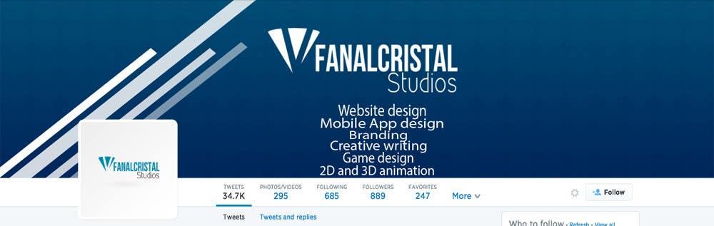 Konkurrenceindlæg #                                        4                                      for                                         Design a Twitter Header and Profile Picture for FanalCrystal Studio