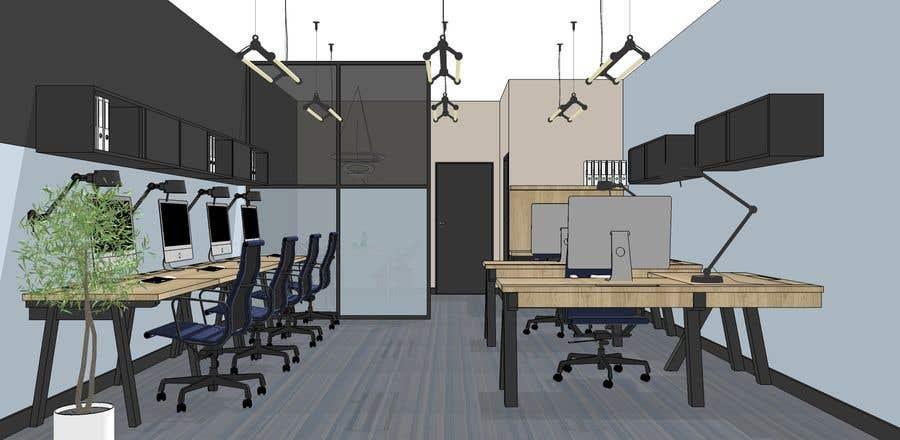 Entry 14 by nataliacichanska for tiny office distribution for Distribucion oficinas pequenas