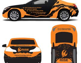 nº 38 pour Car Wrap Design for RISE Technology Solutions par MishAMan