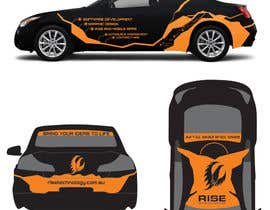 nº 32 pour Car Wrap Design for RISE Technology Solutions par MishAMan