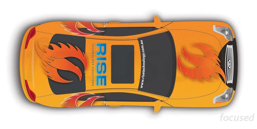 Penyertaan Peraduan #28 untuk Car Wrap Design for RISE Technology Solutions