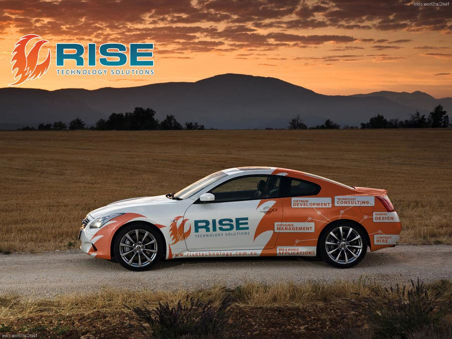 Bài tham dự cuộc thi #                                        56                                      cho                                         Car Wrap Design for RISE Technology Solutions
