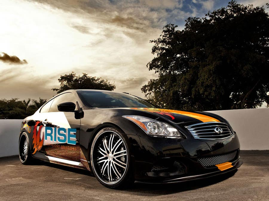 Konkurrenceindlæg #                                        14                                      for                                         Car Wrap Design for RISE Technology Solutions