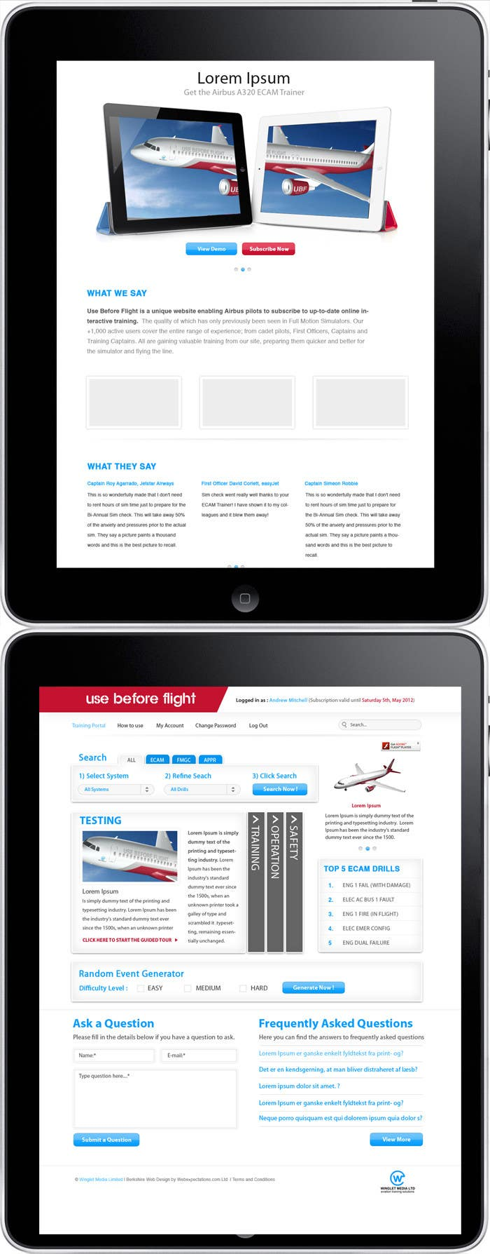 Конкурсная заявка №                                        27                                      для                                         Website Design for Use Before Flight