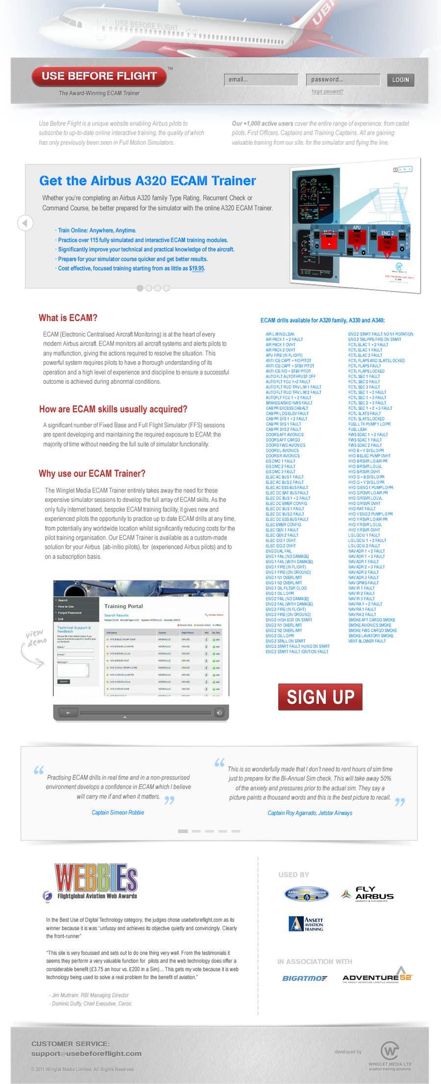 Penyertaan Peraduan #                                        43                                      untuk                                         Website Design for Use Before Flight