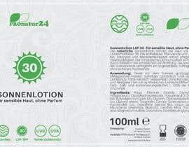 Nro 22 kilpailuun Erstellung bzw. Adaptierung 2x Etikett für Sonnencreme käyttäjältä enes2707