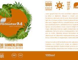 Nro 10 kilpailuun Erstellung bzw. Adaptierung 2x Etikett für Sonnencreme käyttäjältä griffindesing