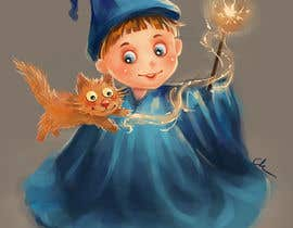 #31 for Draw a young wizard and his cat af cakikandy