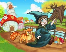 #34 for Draw a young wizard and his cat af ZenbayMono