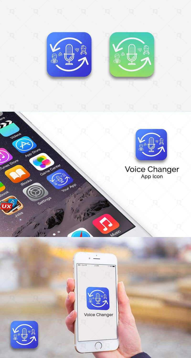 Entry #73 by riteshparmar79 for App icon - voice changer app