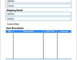#8 untuk Design our invoice template oleh iqbalkhatri55