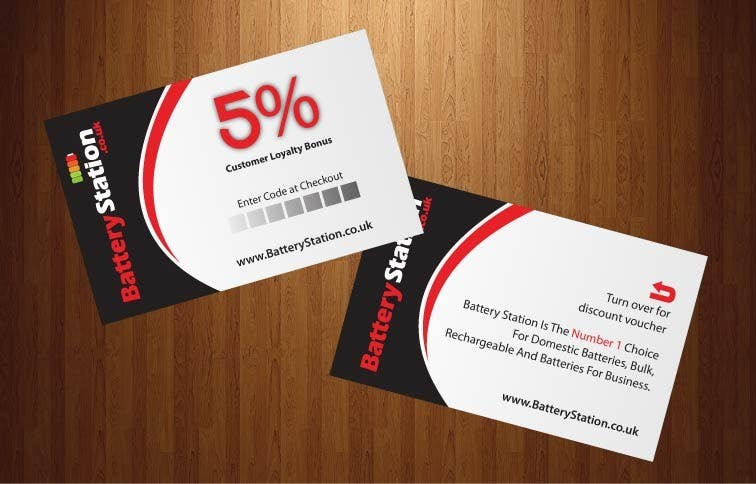 Contest Entry 30 For Business Card Design Battery Station