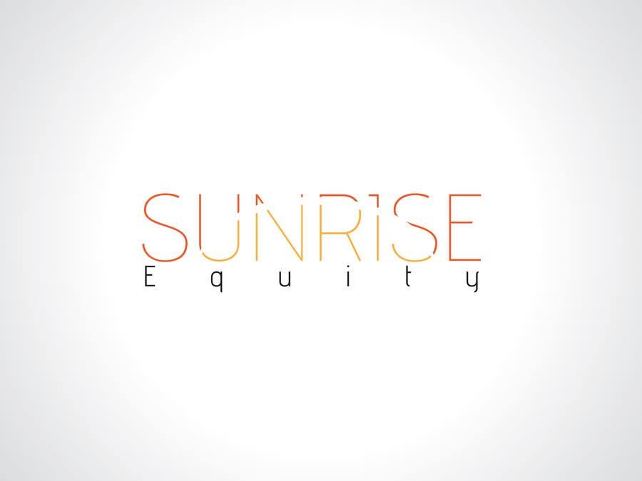 Penyertaan Peraduan #771 untuk Logo Design for Sunrise Equity