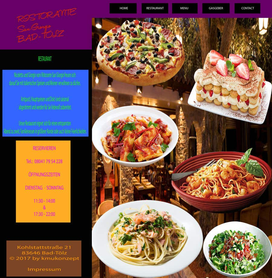 entry 23 by fatemakhan197 for design menu pages for italian