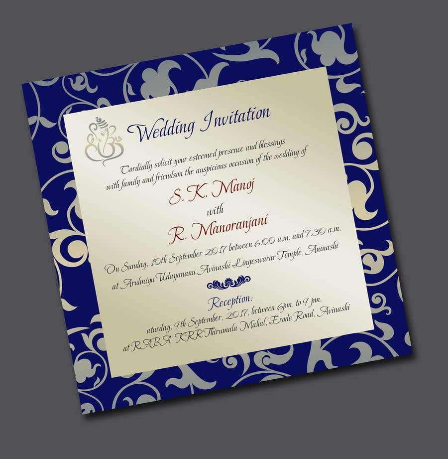 Entry #4 by adesign060208 for Design a south Indian marriage ...