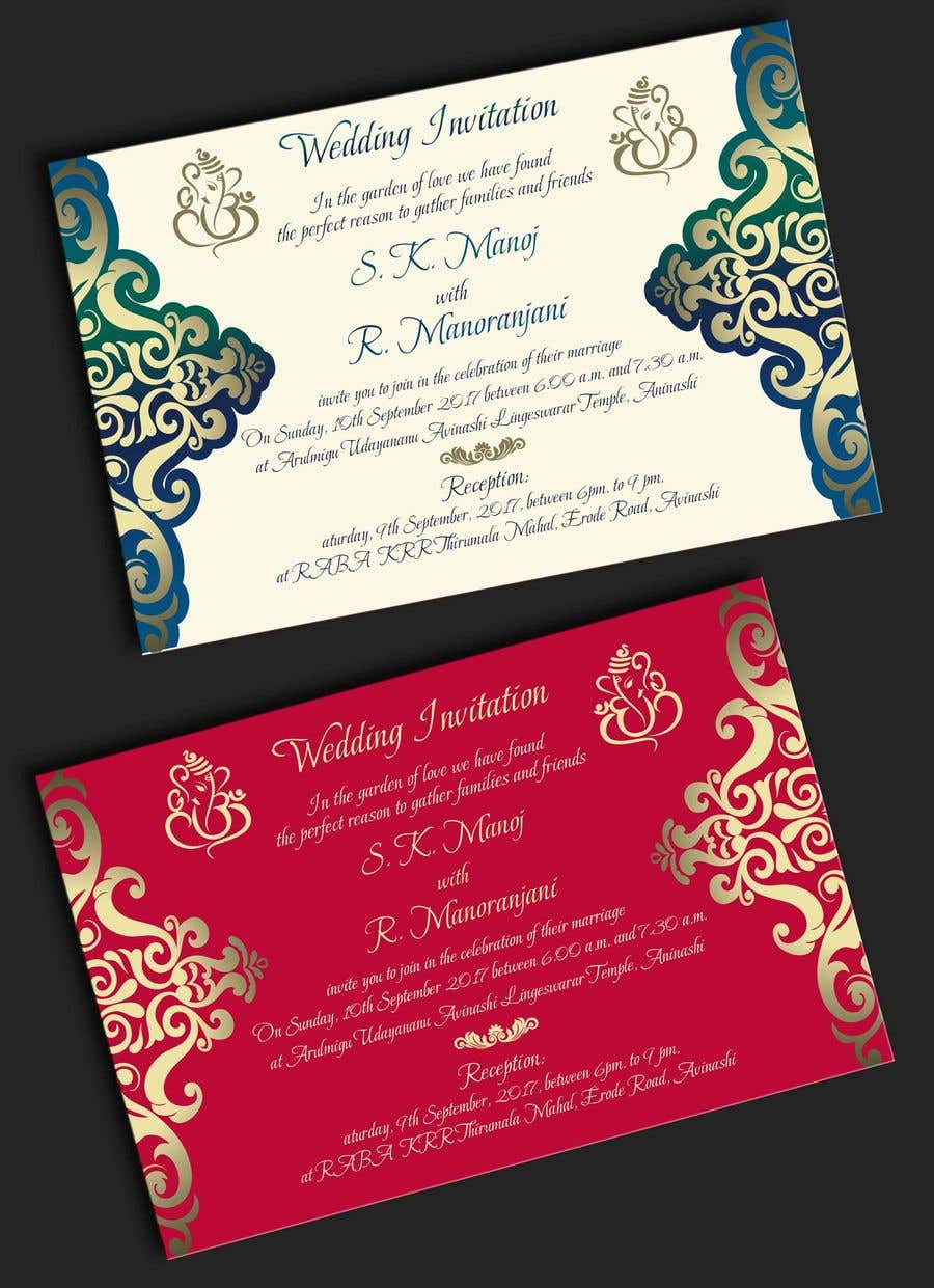Entry #7 by adesign060208 for Design a south Indian marriage ...