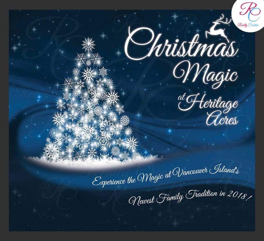 Event poster design. Christmas