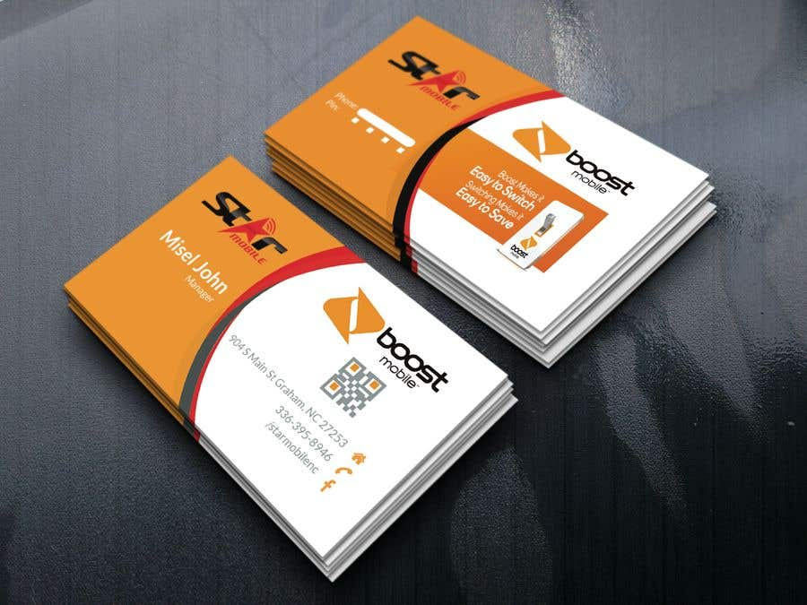 Entry #45 by Graphichouse1399 for Boost Mobile Business Card ...