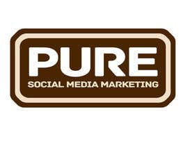 #223 para Logo Design for PURE Social Media Marketing por kxhead