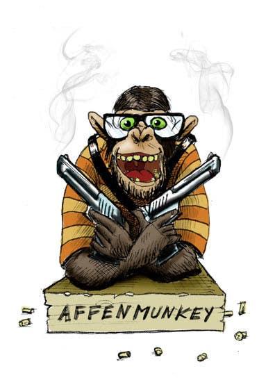 Proposition n°                                        26                                      du concours                                         Design a simple mascot / monkey / caricature
