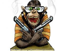 nº 26 pour Design a simple mascot / monkey / caricature par romwer