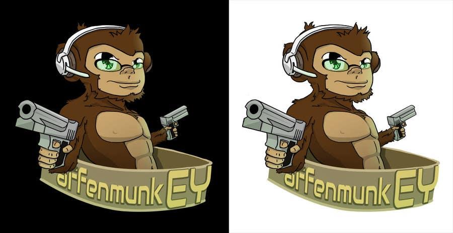 Proposition n°                                        35                                      du concours                                         Design a simple mascot / monkey / caricature