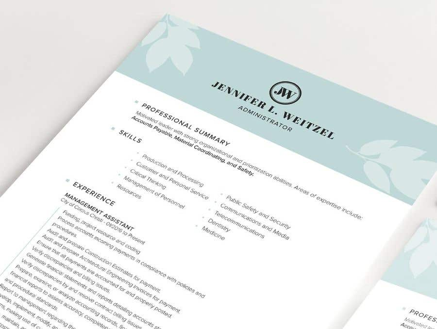 Entry #78 by sameenhussain for Clean up my wife\'s resume | Freelancer