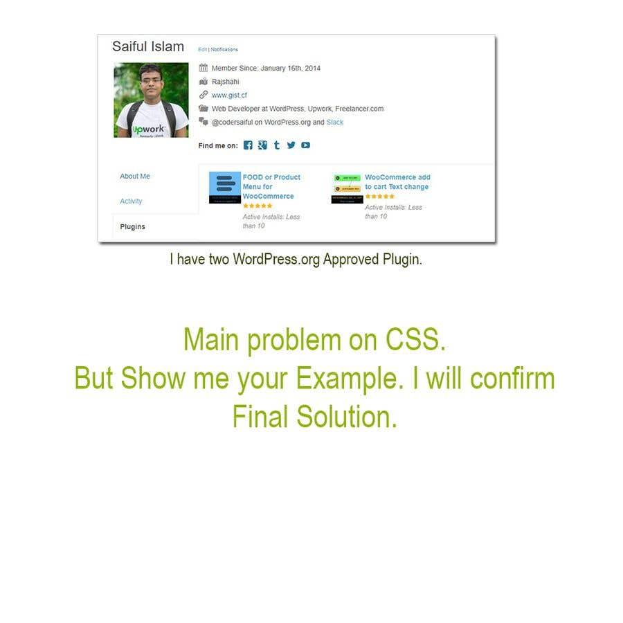 Entry #3 by codersaiful for Hire a WordPress Developer   Freelancer