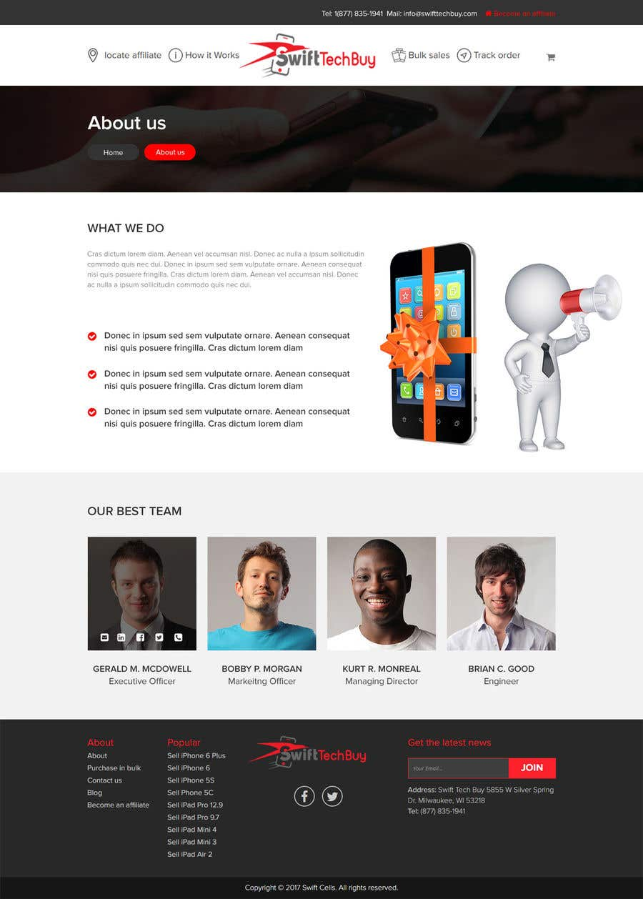 Entry 27 By Sayed16 For Design 2 Pages In Psd Design An About Us