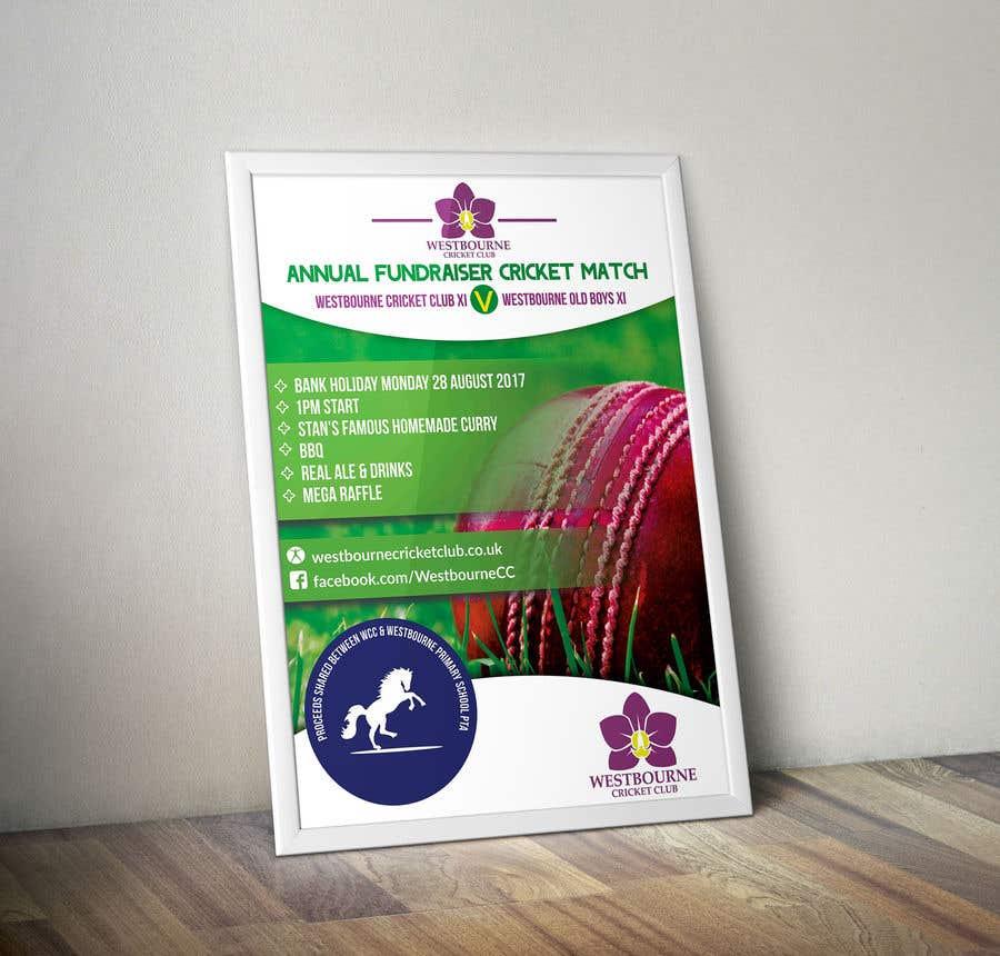 """Intrarea #21 pentru concursul """"Fundraiser Poster Design for Print - Cricket!"""""""