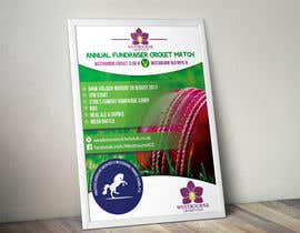 #21 pentru Fundraiser Poster Design for Print - Cricket! de către khblimon