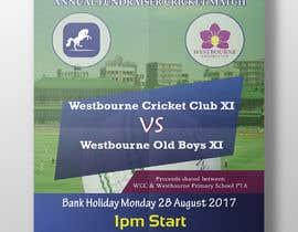 #17 pentru Fundraiser Poster Design for Print - Cricket! de către muzahidulislam1
