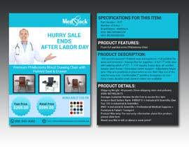mdsazidur tarafından Design a Flyer to Sell a Medical Chair to Medical Suppliers için no 13